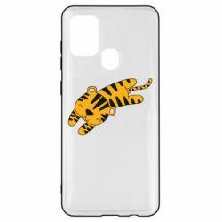 Чехол для Samsung A21s Little striped tiger