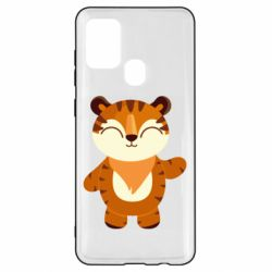 Чехол для Samsung A21s Little tiger with a smile