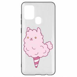 Чехол для Samsung A21s Llama Ice Cream