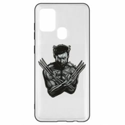 Чехол для Samsung A21s Logan Wolverine vector