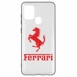 Чехол для Samsung A21s логотип Ferrari