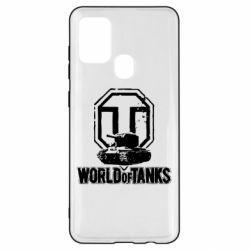 Чехол для Samsung A21s Логотип World Of Tanks