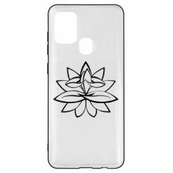 Чохол для Samsung A21s Lotus yoga