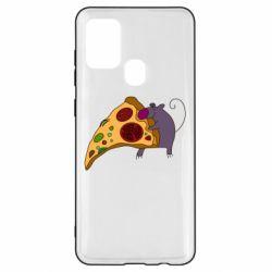 Чехол для Samsung A21s Love Pizza 2