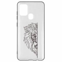Чохол для Samsung A21s Low poly lion head