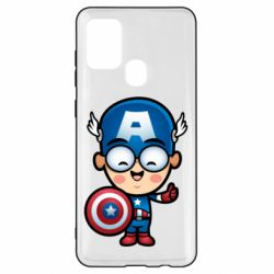 Чехол для Samsung A21s Маленький Капитан Америка