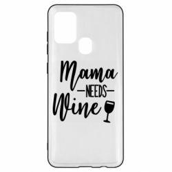 Чехол для Samsung A21s Mama need wine