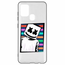 Чехол для Samsung A21s Marshmello Colorful Portrait