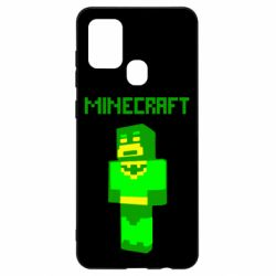 Чехол для Samsung A21s Minecraft Batman