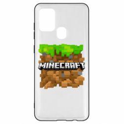 Чохол для Samsung A21s Minecraft Main Logo