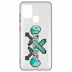Чохол для Samsung A21s Minecraft алмазний меч