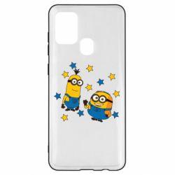 Чохол для Samsung A21s Minions and stars