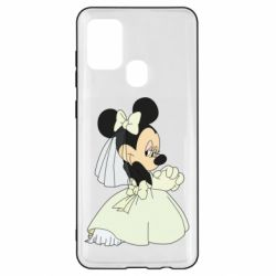 Чехол для Samsung A21s Minnie Mouse Bride