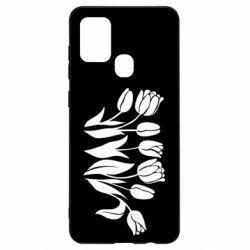 Чохол для Samsung A21s Monochrome tulips