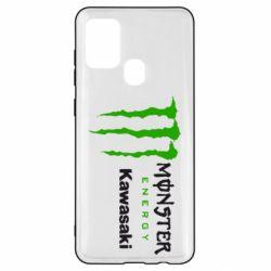 Чохол для Samsung A21s Monster Energy Kawasaki