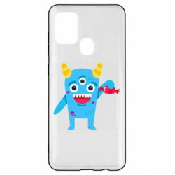 Чехол для Samsung A21s Monster with a candy
