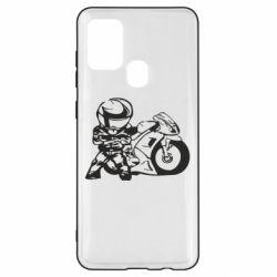 Чехол для Samsung A21s Мотоциклист