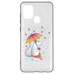 Чохол для Samsung A21s Mouse and rain