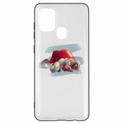 Чехол для Samsung A21s Mouses and christmas hat