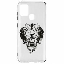 Чехол для Samsung A21s Muzzle of a lion