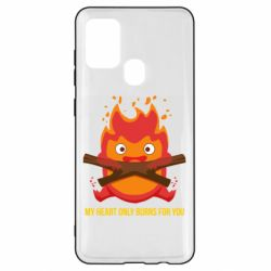 Чохол для Samsung A21s MY HEART ONLY  BURNS FOR YOU