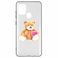 Чохол для Samsung A21s М'який ведмедик