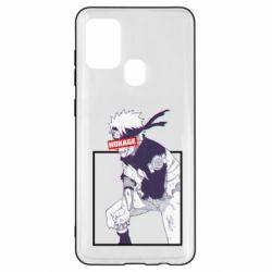 Чехол для Samsung A21s Naruto Hokage glitch