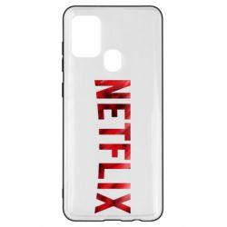 Чехол для Samsung A21s Netflix logo text