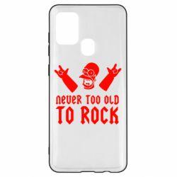 Чехол для Samsung A21s Never old to rock (Gomer)