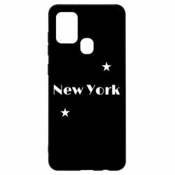 Чехол для Samsung A21s New York and stars