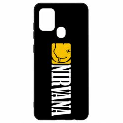 Чехол для Samsung A21s Nirvana смайл
