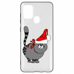 Чехол для Samsung A21s Новогодний котэ