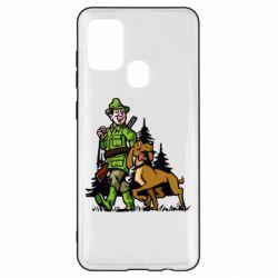 Чохол для Samsung A21s Мисливець з собакою
