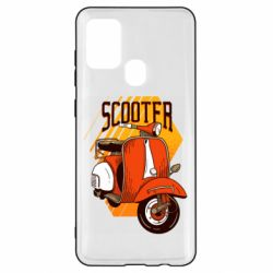 Чохол для Samsung A21s Orange scooter