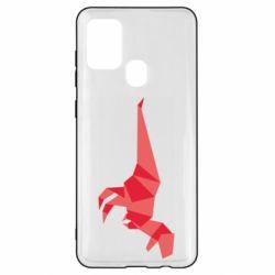 Чехол для Samsung A21s Origami dinosaur