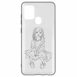 Чехол для Samsung A21s Outline drawing of a little girl