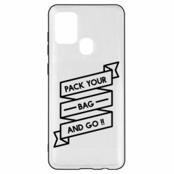 Чехол для Samsung A21s Pack your bag and go