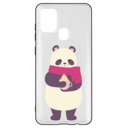 Чехол для Samsung A21s Panda and Cappuccino