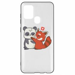Чохол для Samsung A21s Panda and fire panda