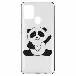 Чохол для Samsung A21s Panda and heart