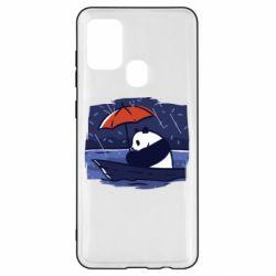 Чехол для Samsung A21s Panda and rain