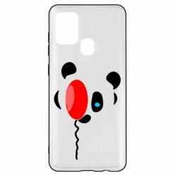 Чехол для Samsung A21s Panda and red balloon