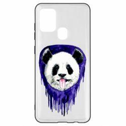 Чехол для Samsung A21s Panda on a watercolor stain