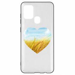Чохол для Samsung A21s Пейзаж України в серце
