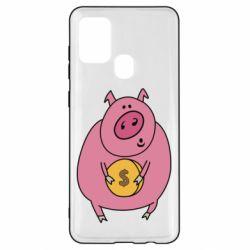 Чохол для Samsung A21s Pig and $
