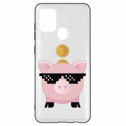 Чохол для Samsung A21s Piggy bank