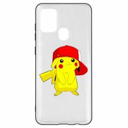 Чехол для Samsung A21s Pikachu in a cap