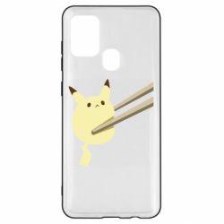 Чохол для Samsung A21s Pikachu in the sticks