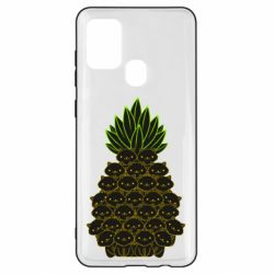 Чехол для Samsung A21s Pineapple cat