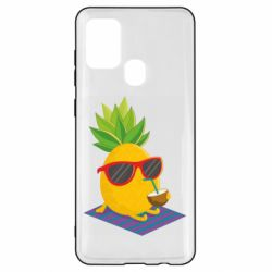 Чехол для Samsung A21s Pineapple with coconut
